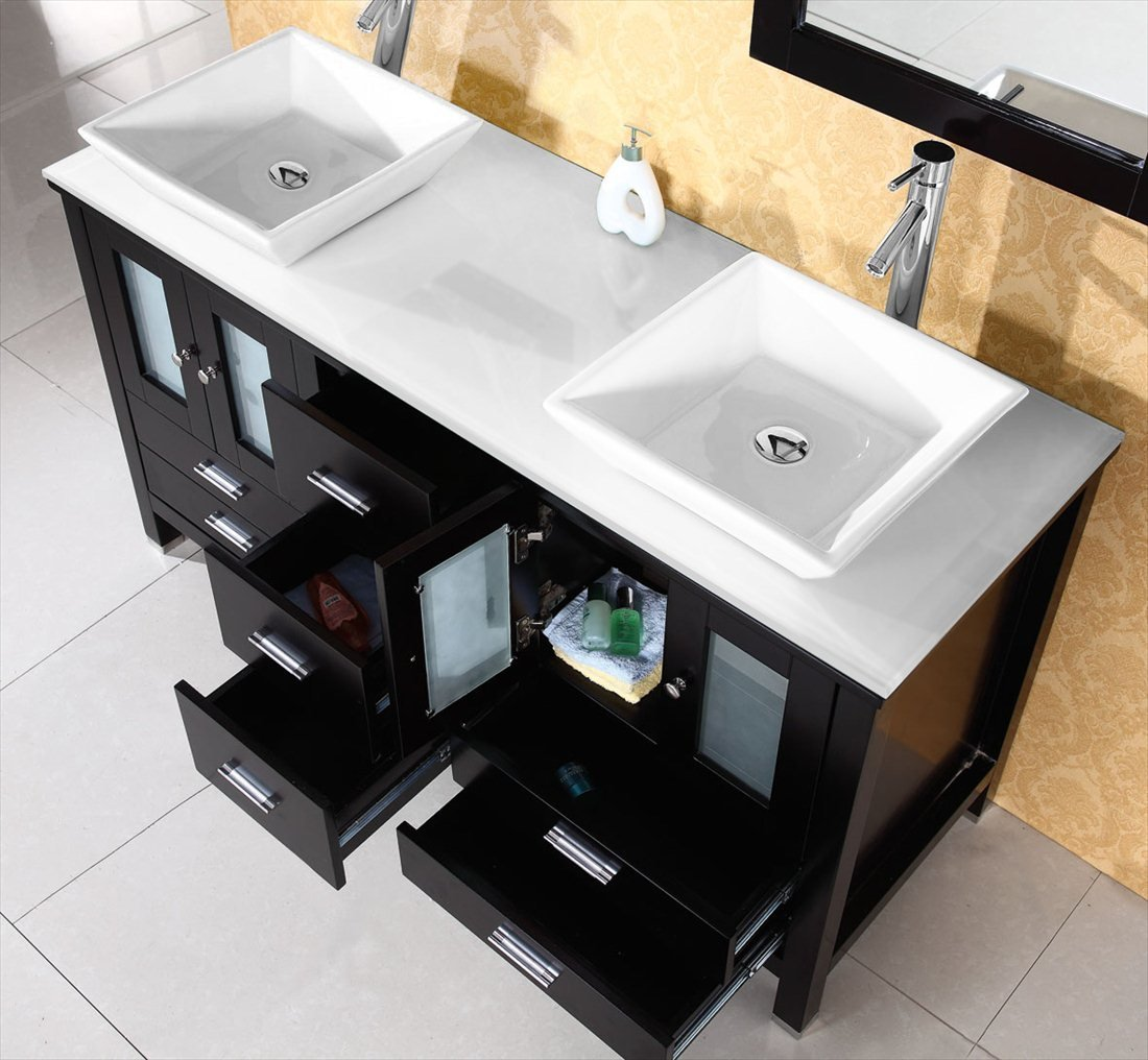 Virtu Usa Md S Es Bradford Inch Bathroom Vanity With