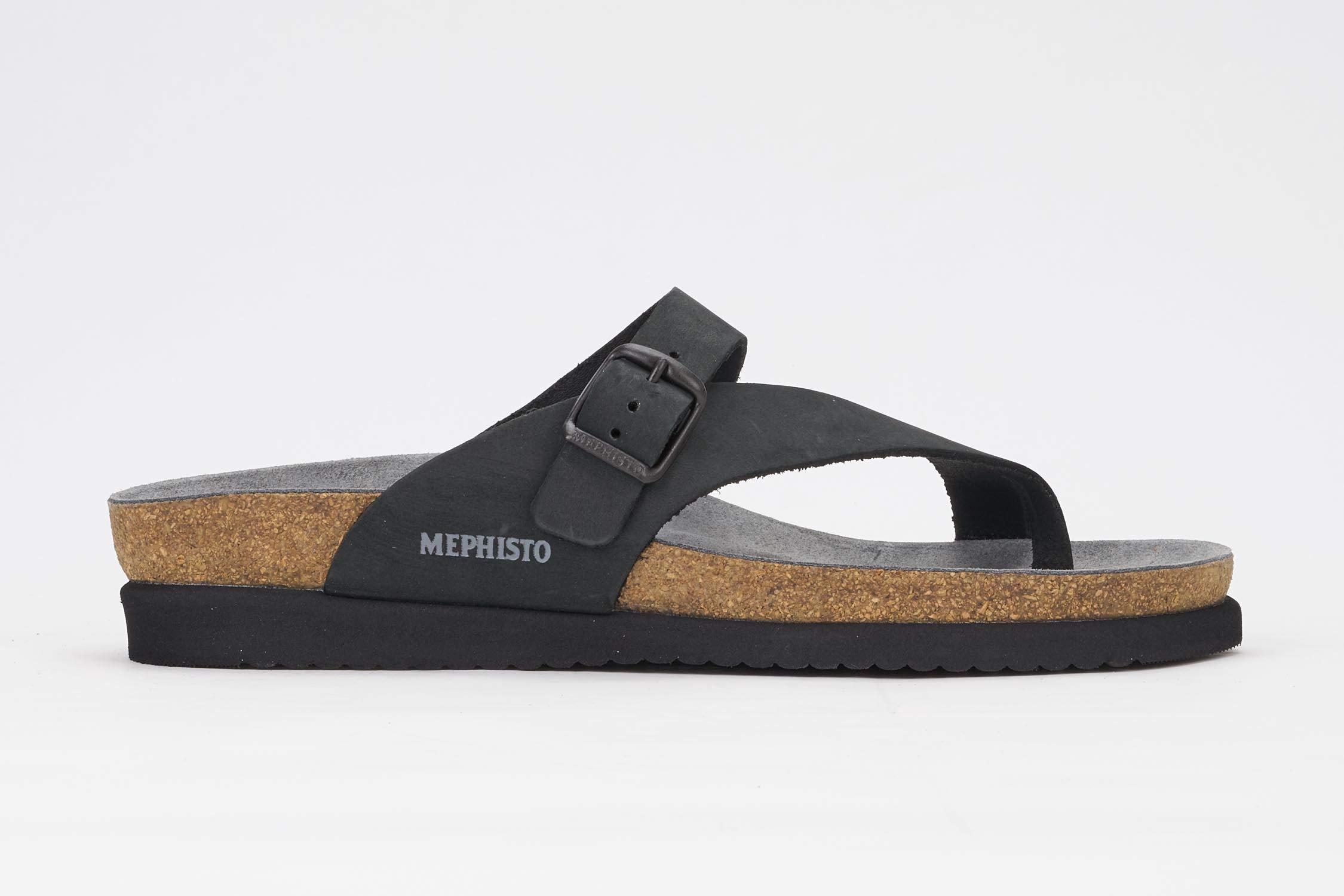 Mephisto Women's Helen Thong Sandal,Black Nubuck,8 M US by Mephisto