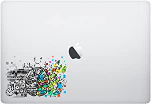 Laptop Sticker Decal - Brain Colorful 2 - Funny Cute Skins Stickers