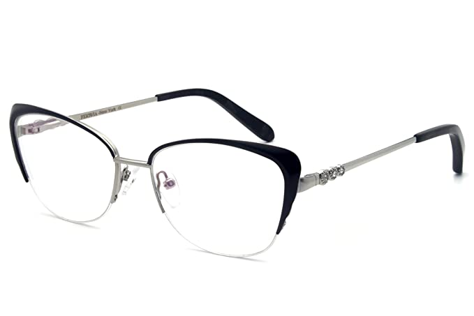 a0457032e4c7f Image Unavailable. Image not available for. Color  Women eyewear frames  design temple Metal Half ...