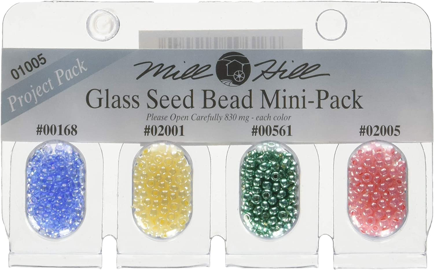 2010 Mill Hill GBMPK-01004 GBMPK-1004 Beads and Bead Assortments Glass Seed Mini Packs 830mg 4//Package-161 2013 2011