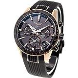 [アストロン]ASTRON 腕時計 アストロン 第3世代 ソーラーGPS チタンモデル 黒文字盤 サファイアガラス ローズゴールドダイヤシールド シリコンバンド SBXC006 メンズ
