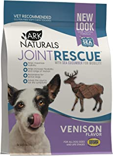 product image for Ark Naturals Sea Mobility Joint Rescue Chews, Venison, Increase Flexibility, Mobility and Joint Comfort, Vet Recommended for All Dog Breeds, 500 mg Glucosamine, 9 oz. Bag