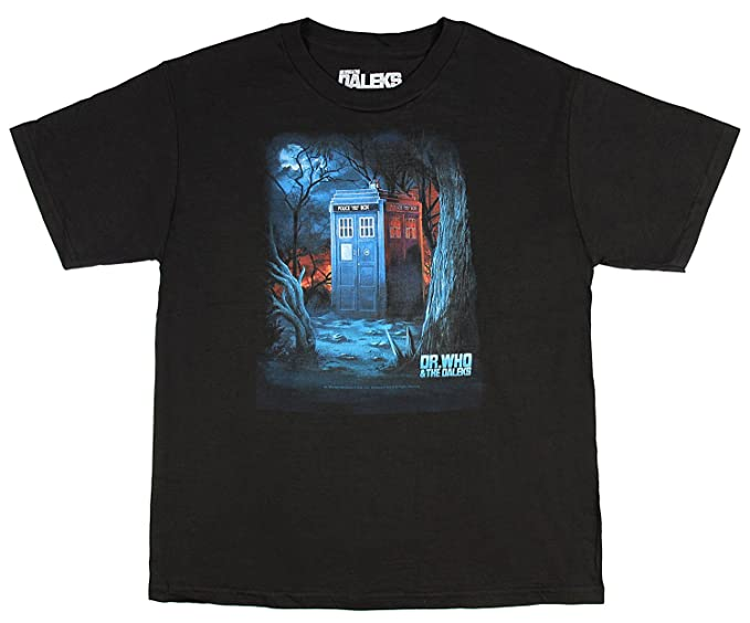 19a73f0d6a Amazon.com  Dr. Who   The Daleks Tardis in The Woods Youth Graphic T ...