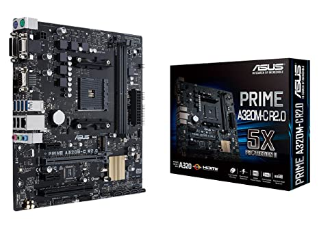 Amazon.com: ASUS PRIME A320M-C R2.0 AMD Ryzen AM4 DDR4 HDMI ...