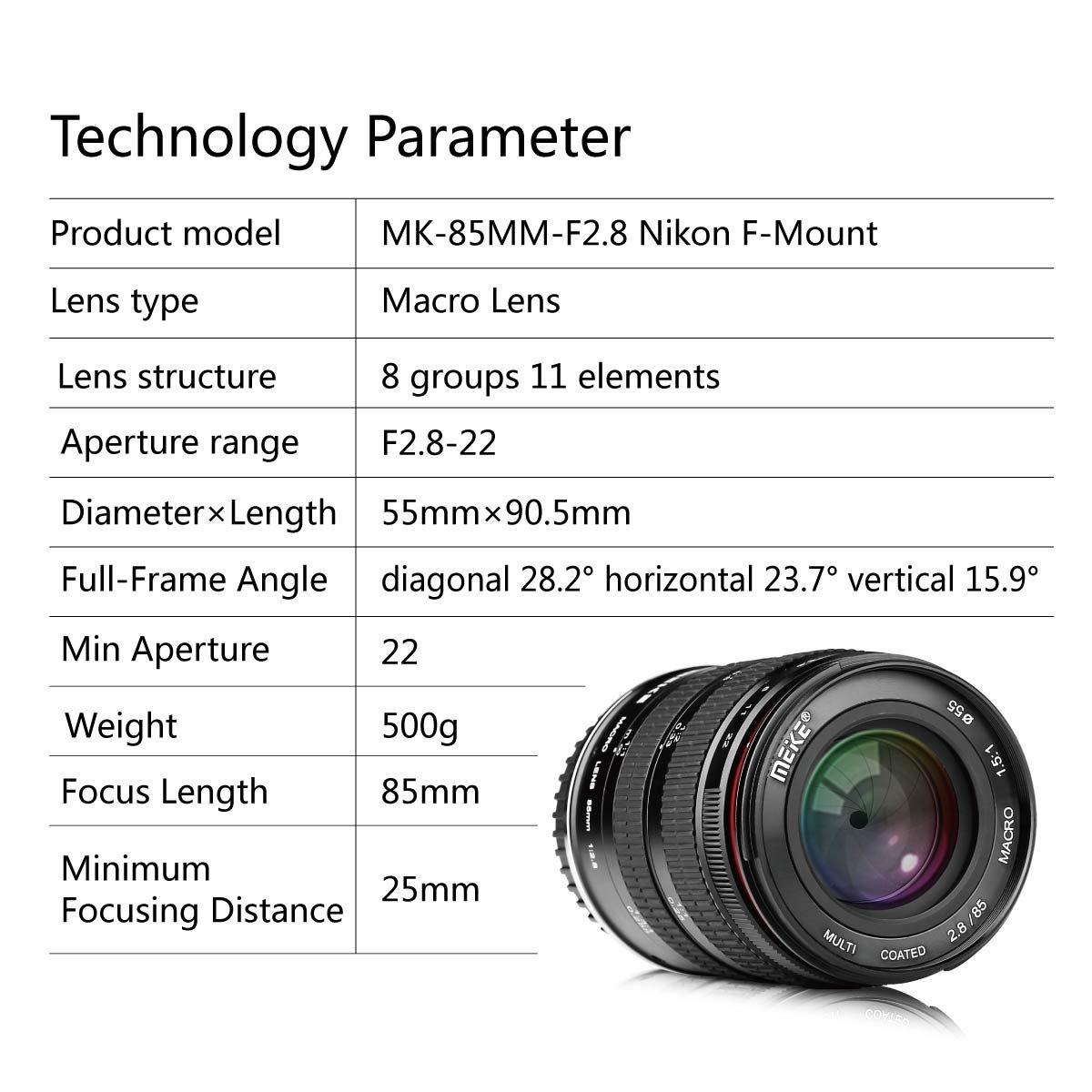 Meike MK 85 mm f/2.8 fotograma completo de enfoque manual ...