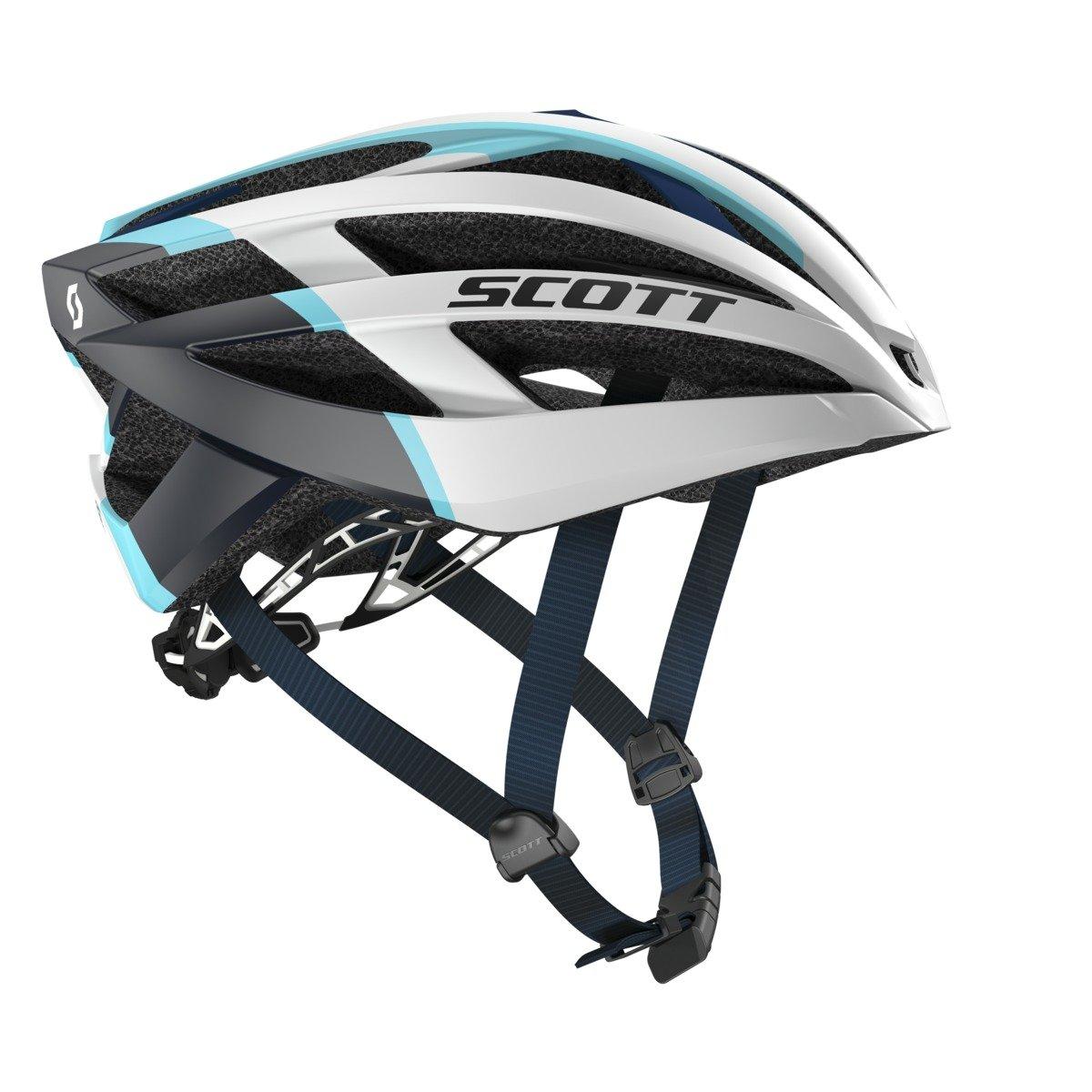 SCOTT(スコット) ヘルメット 自転車用ヘルメット Wit-R (CE) 2301472809008 ホワイト、ブルーマット L   B014I90L7U