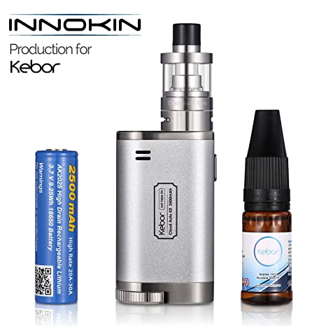 Innokin Cigarrillo Electrónico, Kebor® Cloud Auto 40W Box Mod Kit 2500mAh 18650 Batería Reemplazable