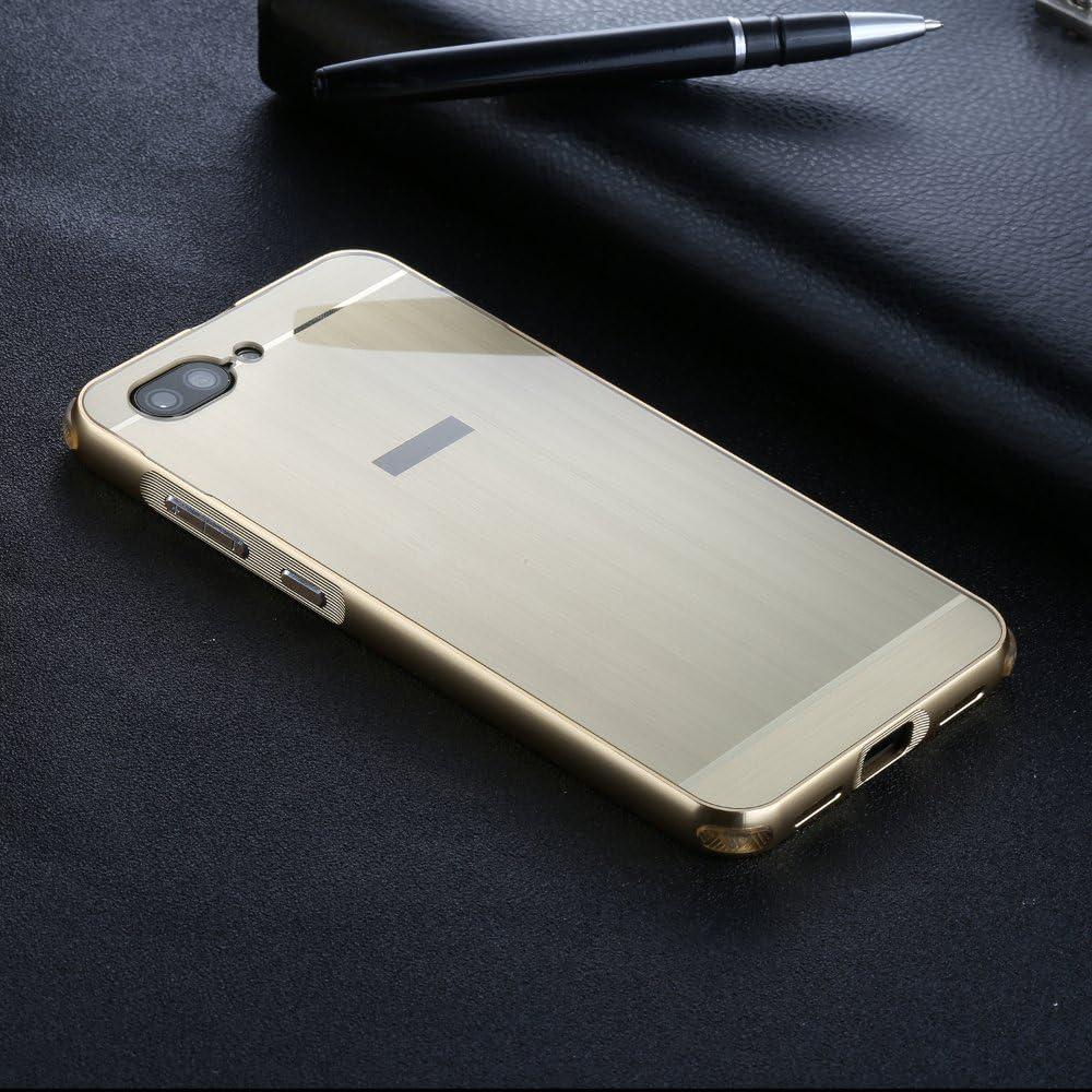 Hybrid Housse Aluminium M/étal Bumper Cadre Case+ PC UKDANDANWEI ASUS Zenfone 4 Max ZC550TL Coque /Étui Polycarbonate Rose Gold Arri/ère Cover pour ASUS Zenfone 4 Max ZC550TL