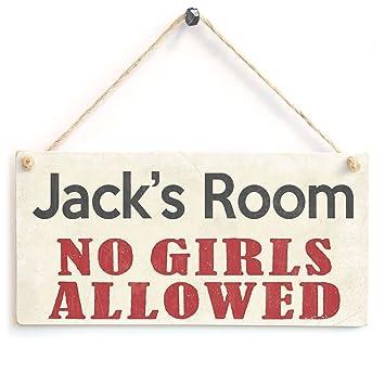Personalised Boys Bedroom Door Sign No Girls Allowed   Teenage Boy  Personalised Wooden Sign Gift. Personalised Boys Bedroom Door Sign No Girls Allowed   Teenage Boy