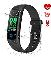 AK1980 Fitness Tracker, Activity Tracker Watch with Heart Rate Monitor Blood Pressure Blood Oxygen Sleep Monitor IP68...