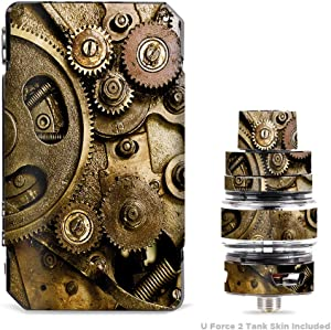 IT'S A SKIN Decal Vinyl Wrap for VooPoo Drag Mini & UForce T2 Tank Vape Sticker Sleeve Cover/Steampunk Gears Steam Punk Old