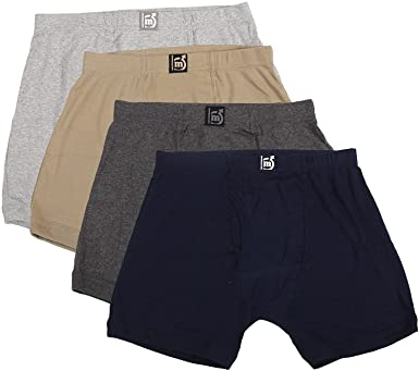 MacroMan Valentino Classic Ribbed Trunk Pack of 4 (Color May Vary) Men's Boxer Shorts at amazon