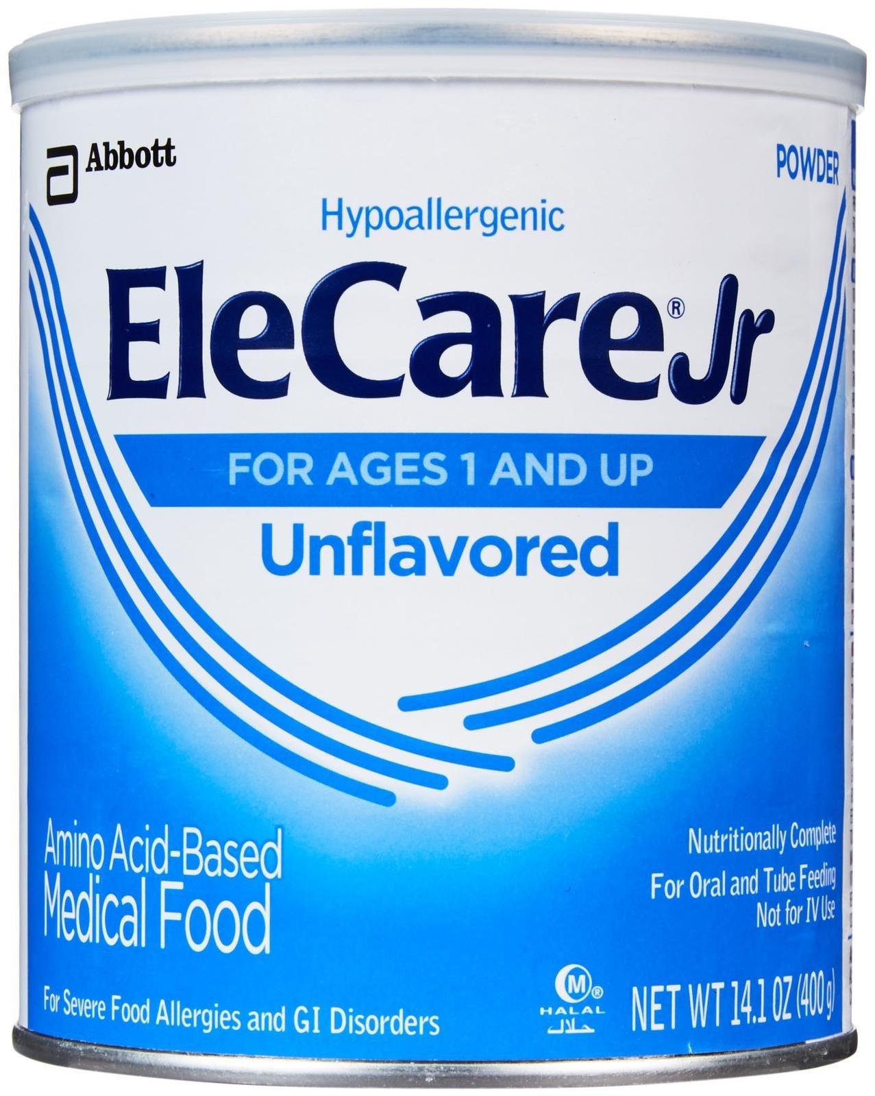 EleCare Jr Toddler Formula-Unflavored-Powder-14.1 Ounces-6 Pack by EleCare