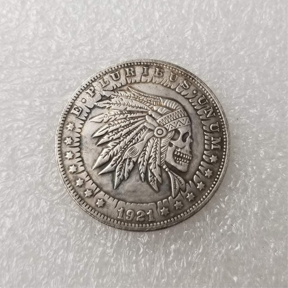 DDTing Best Morgan Monedas de Plata – 1921 Hobo níquel Moneda – Old Coin Collecting-Silver Dollar USA Old Morgan Dollar – Plata chapada en Plata Old Crafts Moneda Buen Servicio: Amazon.es: Hogar