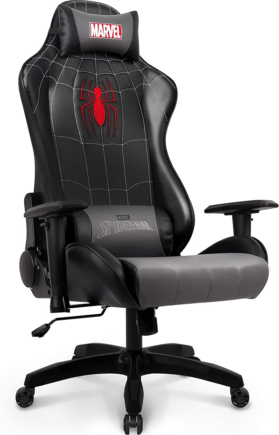 Marvel Avengers Gaming Chair Desk Office Computer Racing Chairs - Recliner Adults Gamer Ergonomic Game Reclining High Back Support Racer Leather Rocker (Spider-Man)