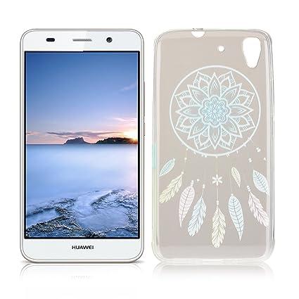 OuDu Funda para Huawei Y6 II/Y6 2 Carcasa Protectora Caso Silicona TPU Funda Suave Soft Silicone Case - Atrapasueños