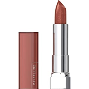 Maybelline Color Sensational Lipstick, Lip Makeup, Cream Finish, Hydrating Lipstick, Nude, Pink, Red, Plum Lip Color, Copper Charge, 0.15 oz. (Packaging May Vary)