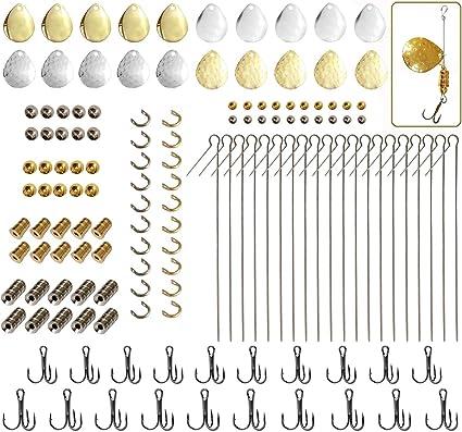 Dovesun Fishing Lures DIY Kit Lure Making Kit Fishing Spoon Rig Spinner Making Kit Fishing Gift DIY Kit 127pcs//176pcs