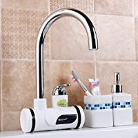 Swadhin Electric Water Heater Faucet Instant Tankless LCD Digital Tap & Instant Heating Digital Water Tap Wall Mounted Stainless Steel