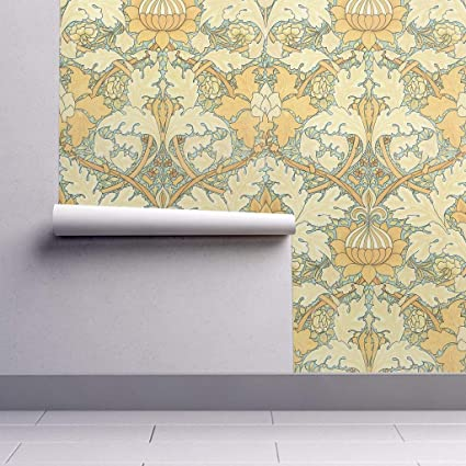 Peel And Stick Removable Wallpaper Victorian Damask Damask