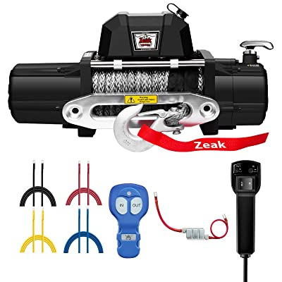 ZEAK 12000lb. Electric Truck Winch Synthetic Rope, Waterproof Off Road, for Jeep Truck, with Wirless Remote: Home Improvement