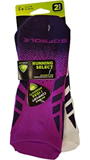 Size 3-8 White//Grey//Purple SofSole Socks Womens Multi Sport Cushion Tab Socks
