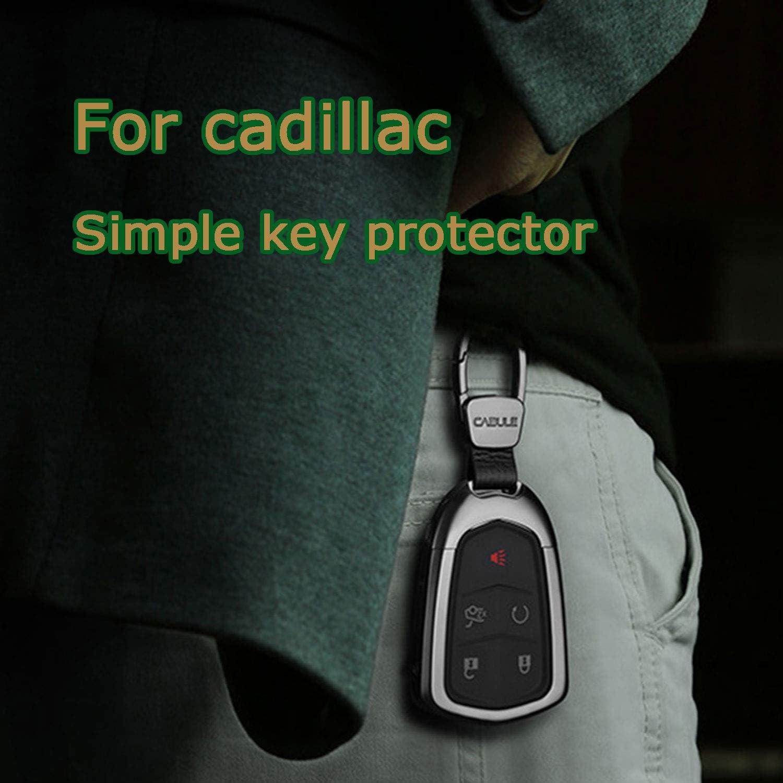 Kwaks Key Case for Cadillac Aluminum Alloy Key Cover for Cadillac XTS ATS-L XT4 XT5 CT6 SRX Escalade Key,with Key Chain Gold