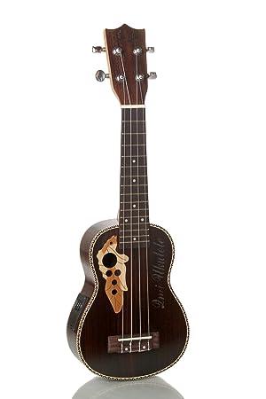 XIE@Palo de rosa de 21 pulgadas caja de la guitarra eléctrica ukelele pequeña guitarra