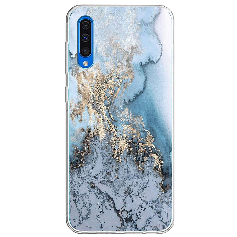 Kompatibel Mit Samsung Galaxy A70, Hülle Silikon Transparent Ultra Dünn Weiche Handyhülle Case Crystal Clear Marmor Damen Style Schutzhülle Anti-Dropping Hülle
