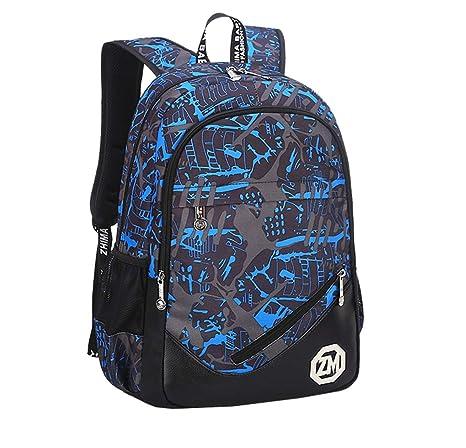 Mnory USB Adolescente Estudiante Bolsas Escolares Portatil Casual Mochilas Infantiles Viaje Multi-Función Mochila Resistente