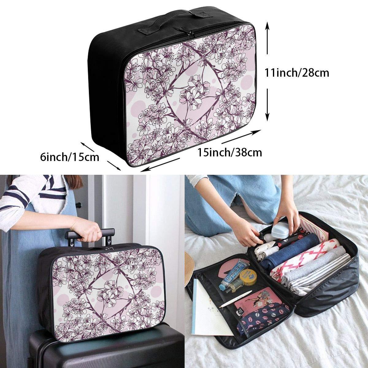 Travel Luggage Duffle Bag Lightweight Portable Handbag Flowers Pattern Large Capacity Waterproof Foldable Storage Tote