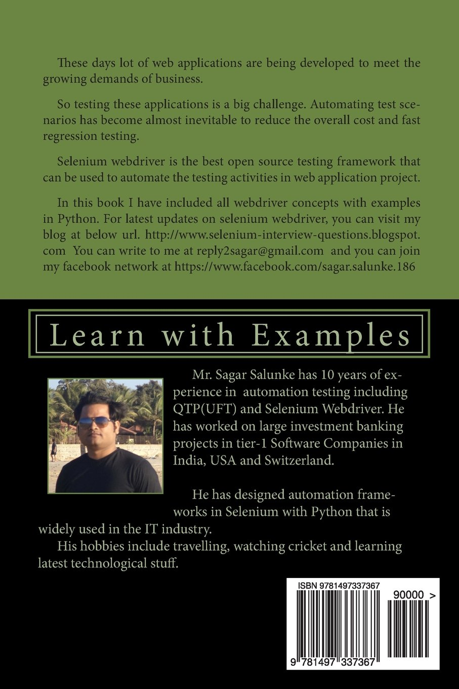 Buy Selenium Webdriver in Python: Learn With Examples Book