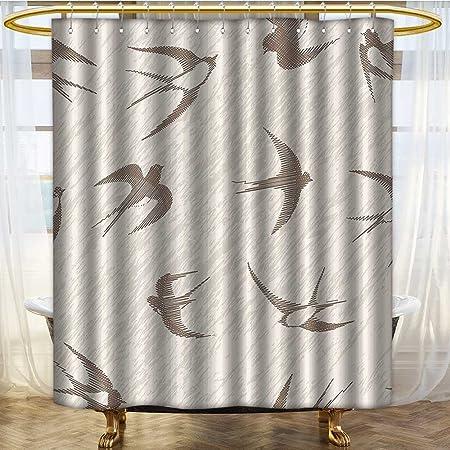 prunushome flying birds decor shower curtain set flying bird swallow rh amazon co uk Black Bear Bathroom Decor Industrial Rustic Decor Bathroom