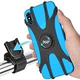 ORIbox bike phone mount, Removable bicycle phone holder handlebar, 360° Rotation Adjustable universal silicone Motorcycle Pho