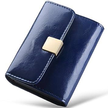Damen Leder Geldbörse Portemonnaie Brieftasche Mini Kartenetui Münzen Geldbeutel