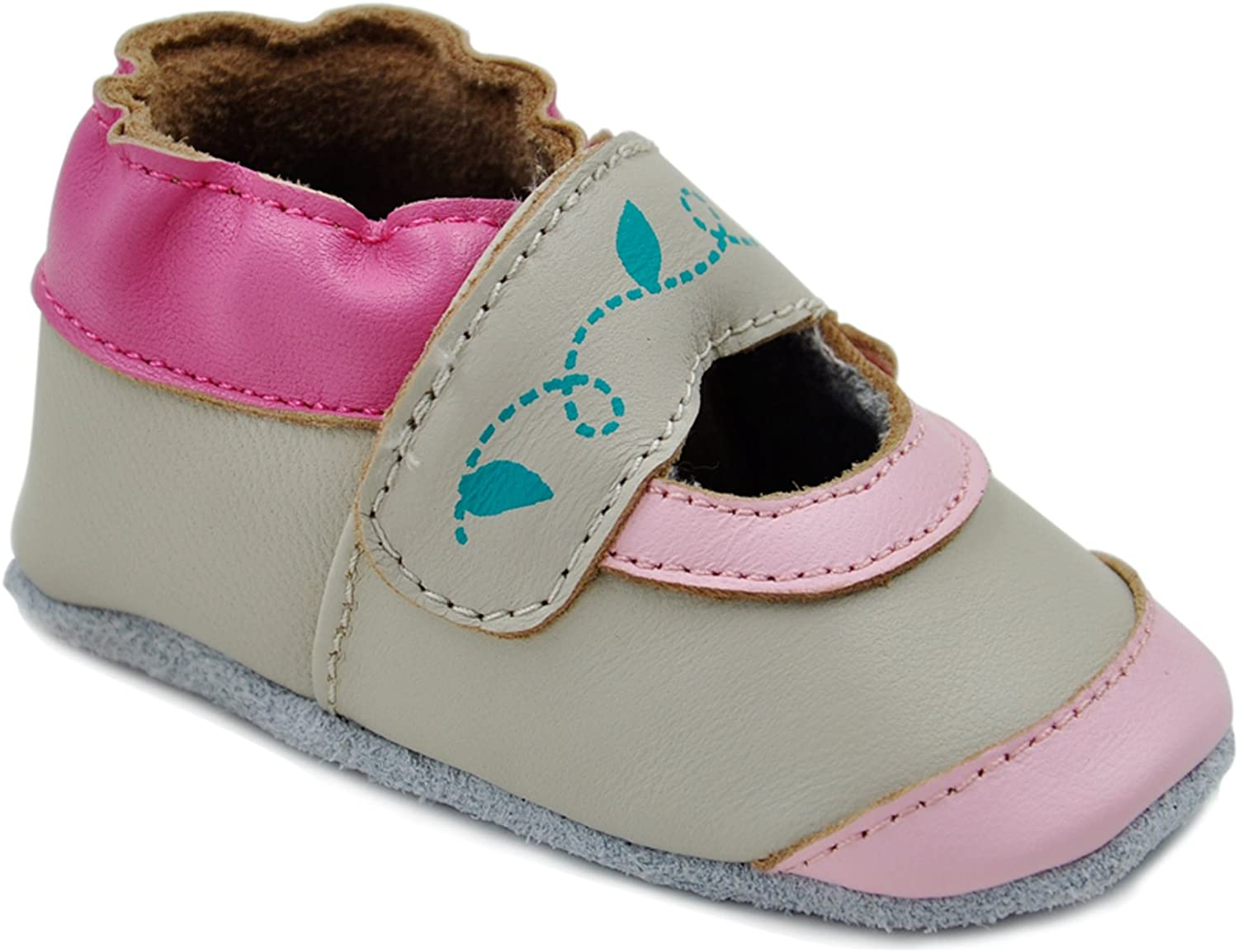 Mary Jane Kimi Kai Baby Girls Lambskin Leather Soft Sole Shoes