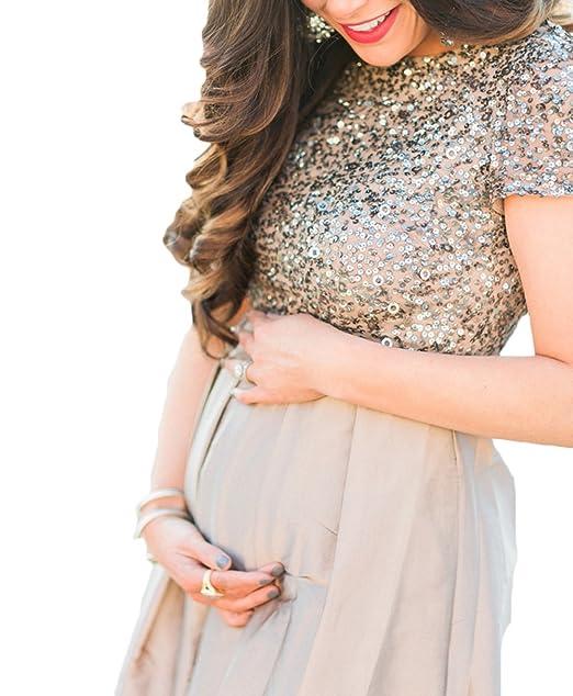 Amazon.com: Ri yun embarazo lentejuelas vestidos largos para ...