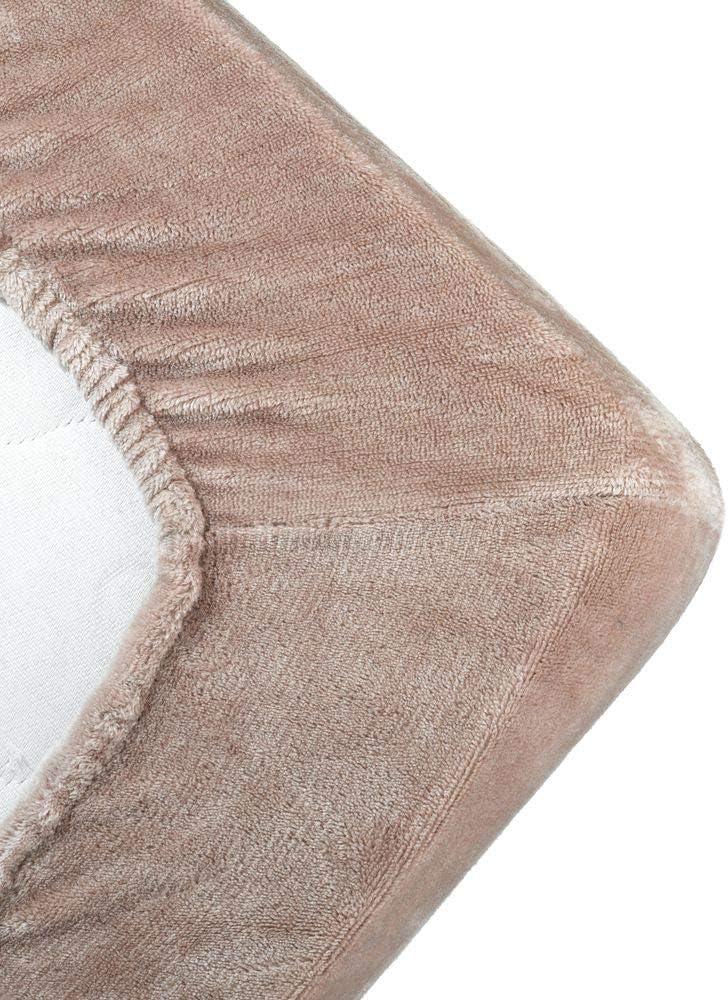MALIKA kuschelige Cashmere-Touch Spannbettlaken Jersey Fleece Spannbetttuch Bett Kinderbett Couch Flauschiges Laken Tagesdecke,Taupe,140x190-150x200 cm