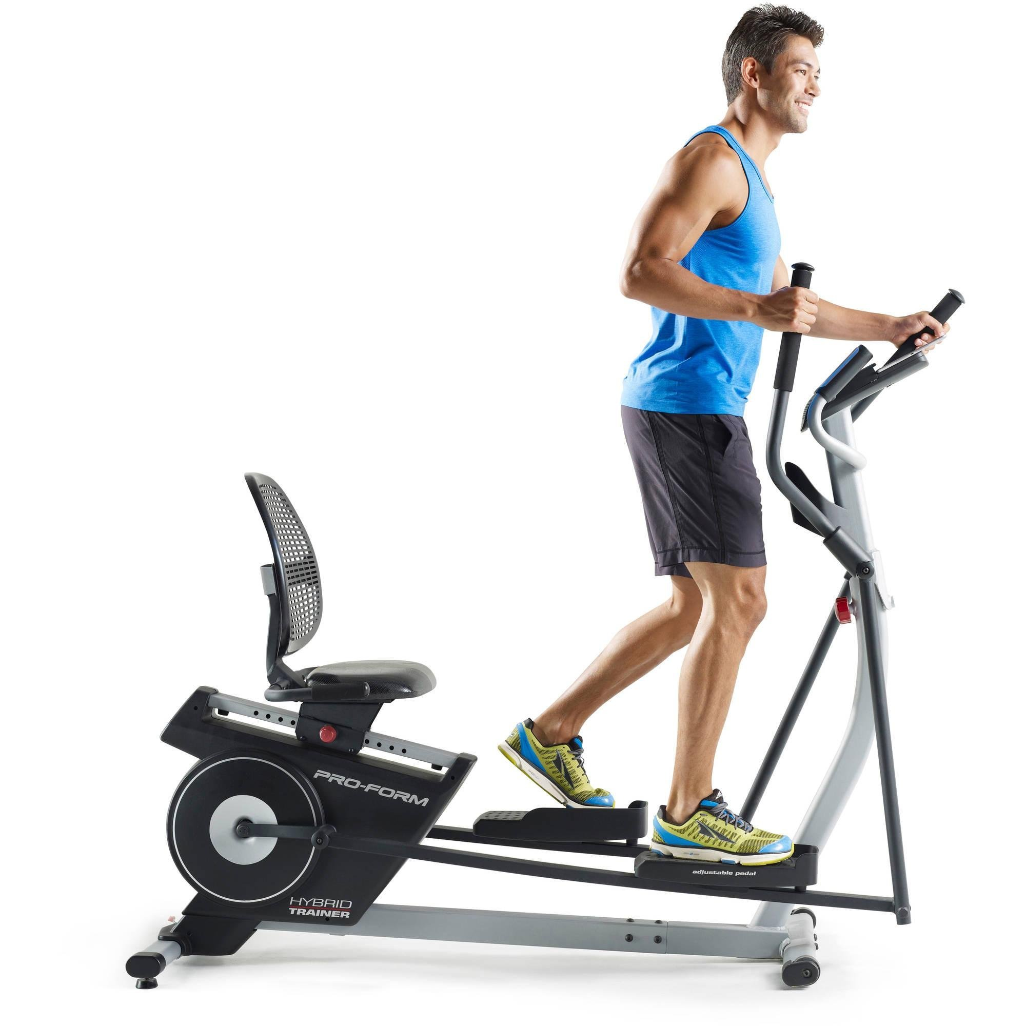 2-in-1 Double Elliptical and Recumbent Bike, Black by ProForm (Image #4)