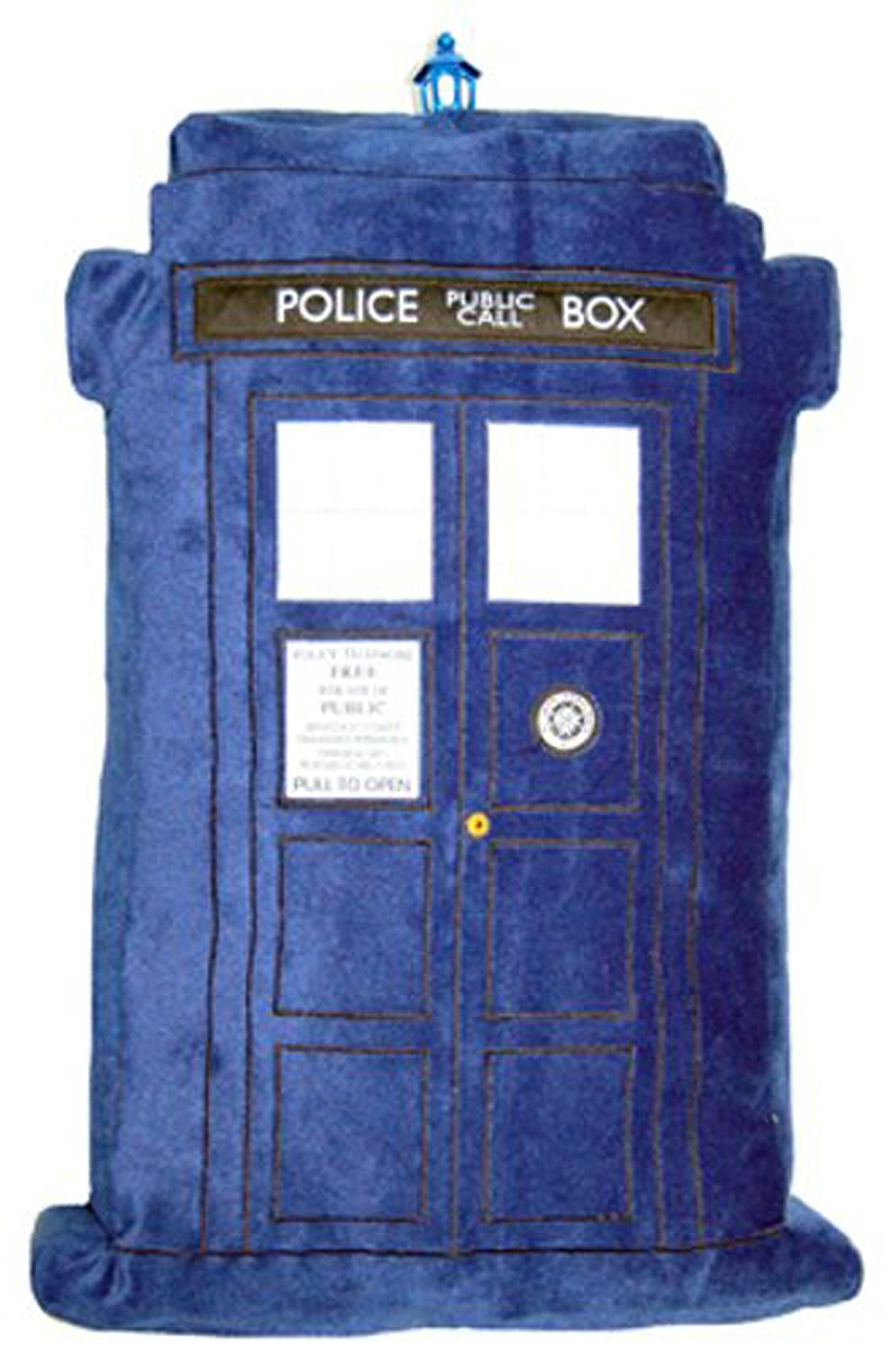 Doctor Who Throw Pillow - Dr. Who TARDIS Plush Cushion with Light and Sound - 20 inch Tall