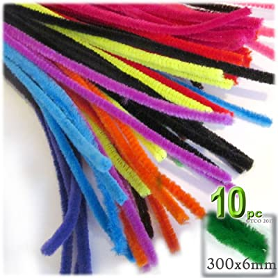 The Crafts Outlet Chenille Stems, Pipe Cleaner, 12-inch (30-cm), 10-pc, Bright Mix: Arts, Crafts & Sewing