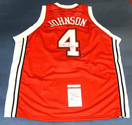 separation shoes 9c070 35ac9 LARRY JOHNSON AUTOGRAPHED UNLV RUNNIN REBELS R JERSEY JSA at ...