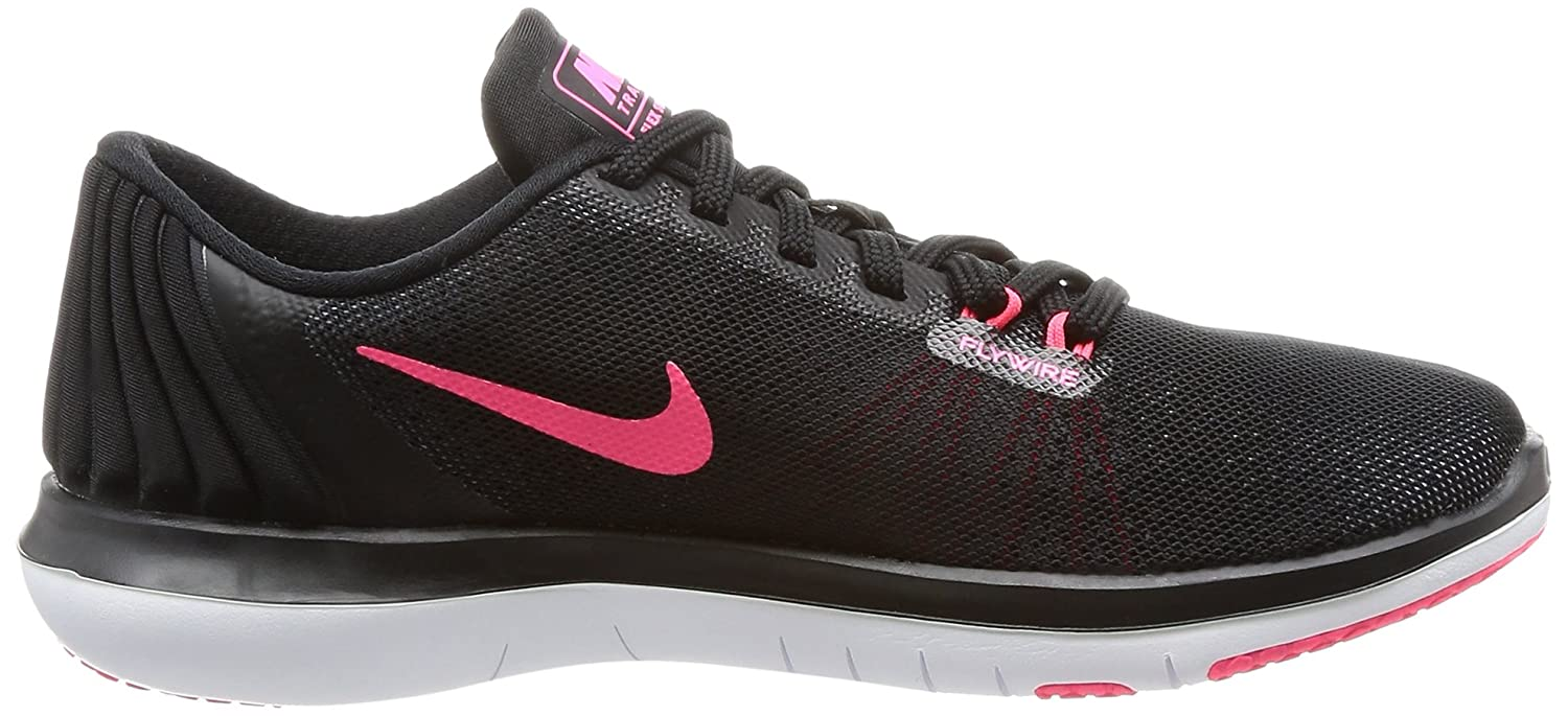 NIKE Women's Flex Supreme TR 5 Cross Training Shoe B01MU32BKV 10 B(M) US|Black/White/Racer Pink/Dark Grey