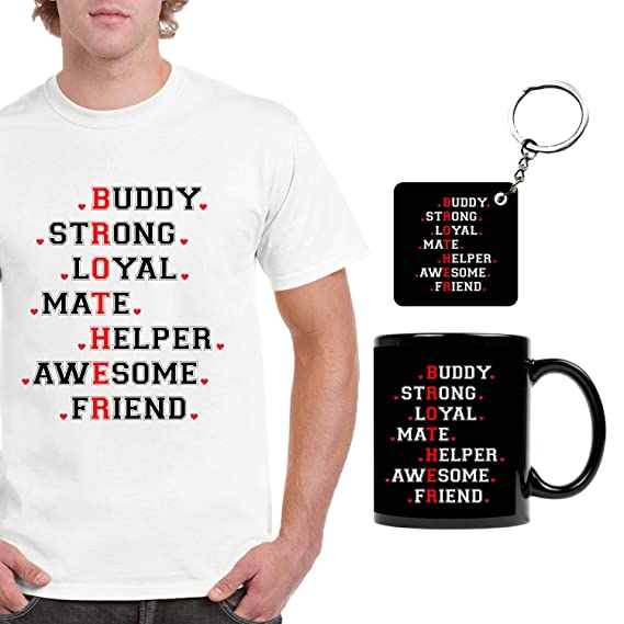 FUNKY STORE Birthday Gifts For Brother Combo Full Form Theam Printed Dri Fit