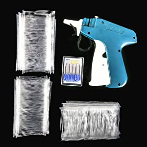"""Price Tag Gun SENREAL Clothes Tagging Gun Retail Price Label Gun Standard Tag Attacher Set with 6 Needles & 1000pcs 2"""" Barbs Fasteners for Boutique Store Warehouse Consignment Sale, Family Yard Sale"""