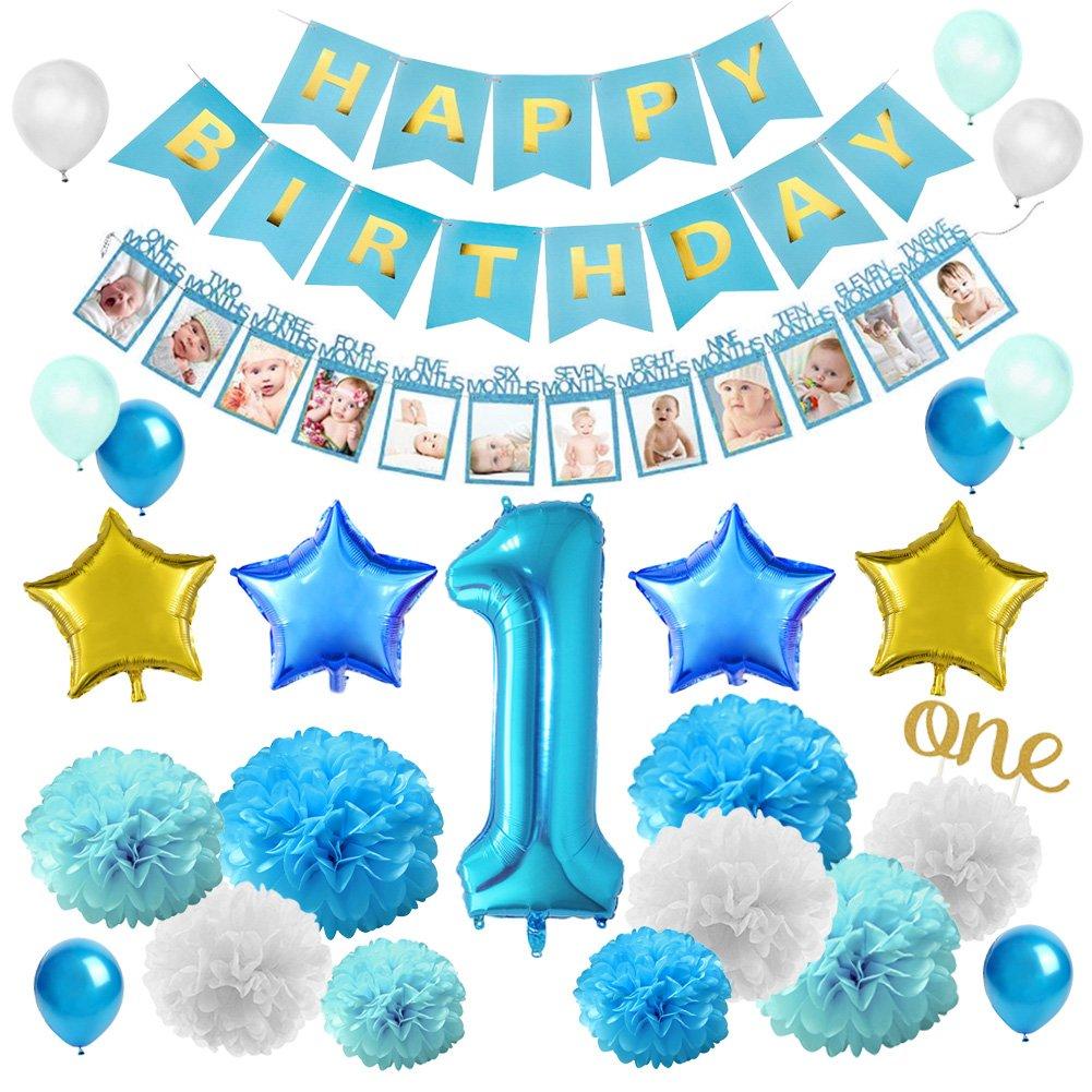 Amazon KREATWOW First Birthday Decorations Set For Boy
