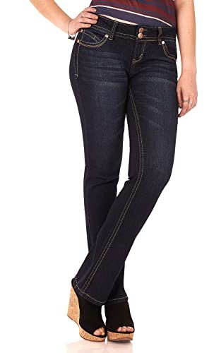 "WallFlower Women's Juniors Luscious Curvy Stretch Denim Bootcut Jeans (30""-32"" Ins..."