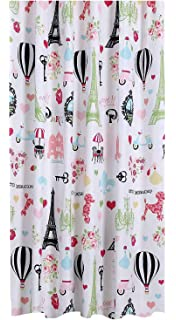 Mainstays Kids I Love Paris Shower Curtain Polyester