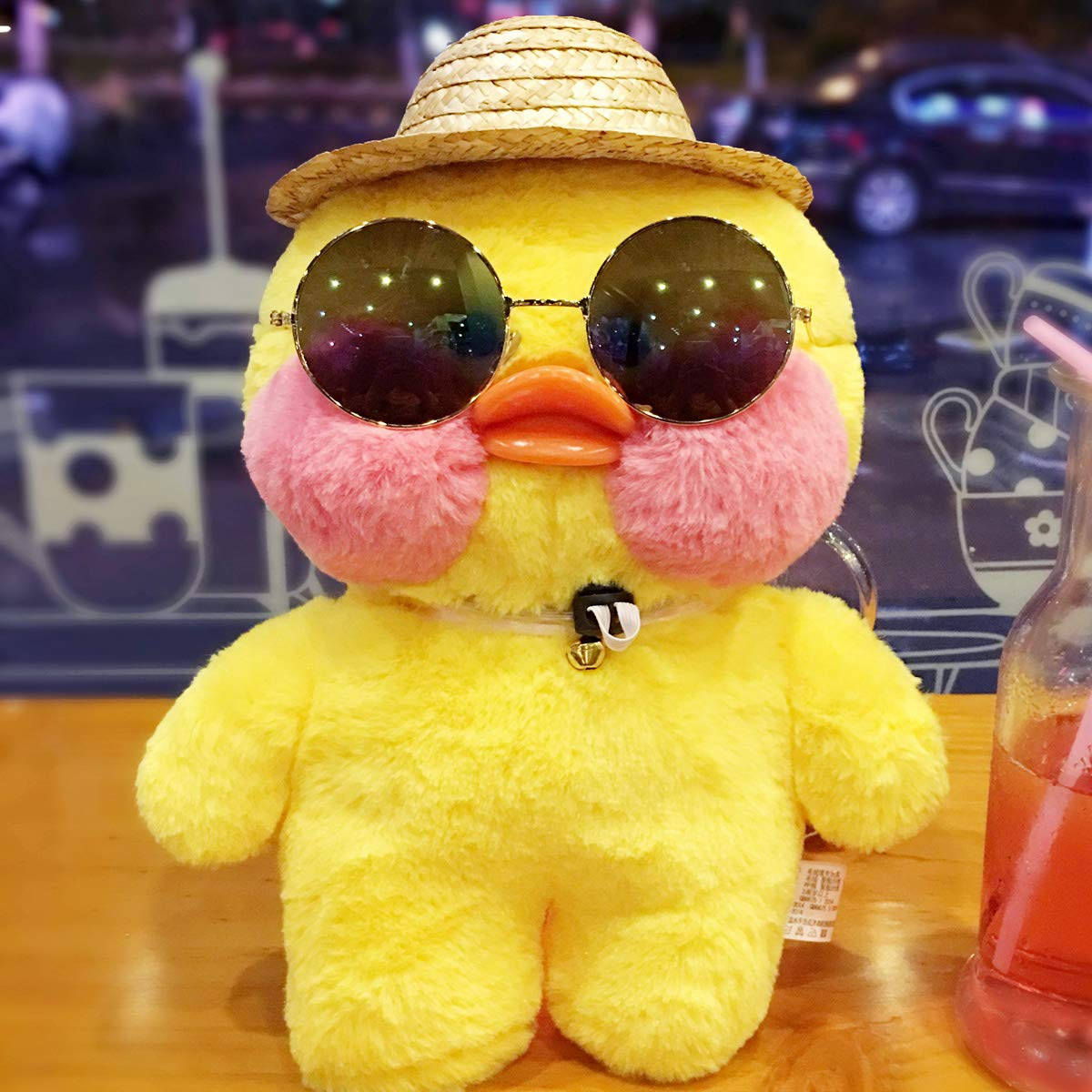 fashion small yellow duck plush toy doll hand warmers pillow hyaluronic duck for christmas (bare pink duck GOKAGY